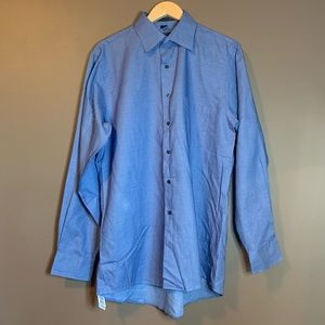 DKNY blue button down top
